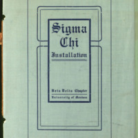 Sigma Chi Installation Program