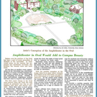 Amphitheater in Oval Would Add to Campus Beauty, page 4<br />