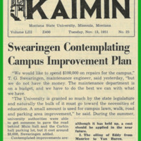 Swearingen Contemplating Campus Improvement Plan, page 1<br />