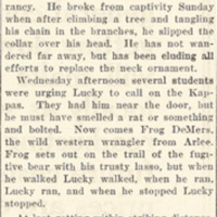 Lucky Celebrates A Bruin Sabbath By Breaking Jail, page 1.