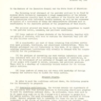 Memo to Members of the Executive Council and the State Board of Education, page 1, page 2 and page 3<br />