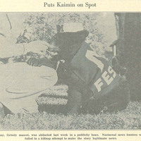 """Puts Kaimin On Spot,"" page 1."