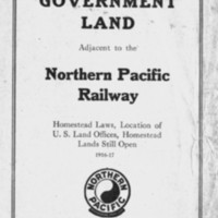 Free Government Land Adjacent to the Northern Pacific Railway, cover.