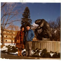 Photograph of Patricia Goedicke and Leonard Wallace Robinson at the University of Montana