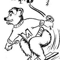Montana University 1960-1961 Winter Sports Brochure For Press, Radio and TV, cover.