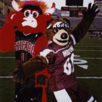 University of Montana Mascot Monte and Chicago Bulls Mascot Benny