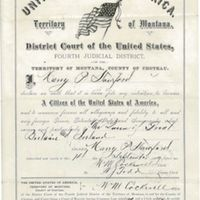 Declaration of Intent for Harry Stanford