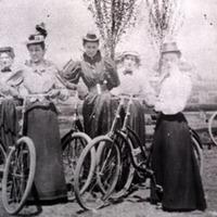 Women on bicycles, Missoula.