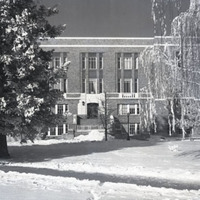 Student Union, winter scene.