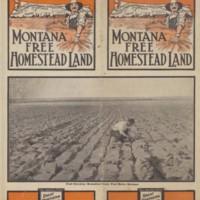 Montana Free Homestead Land, verso, cover.