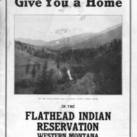 Some of the Last Free Government Homestead Land: The Flathead Reservation, cover.