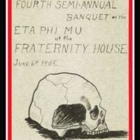 Fourth Semi-Annual Banquette of the Eta Phi Mu Fraternity House, cover
