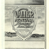 Valier, Montana: A Country of Farm Homes, cover.