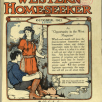 The Western Homeseeker, Vol. 1, No. 1, cover.