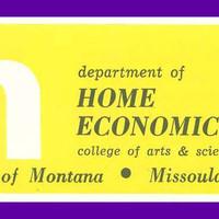UM Department of Home Economics, header.