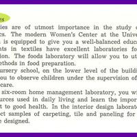 UM Department of Home Economics, page 2.