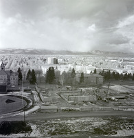 View of University Center construction.