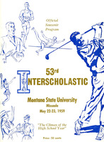 Fifty-Third Annual Interscholastic Meet Program, cover