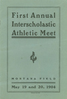 First Annual Interscholastic Meet, program cover