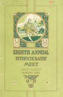 Eighth Annual Interscholastic Meet Program, cover