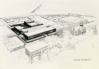 Birdseye perspective of the University Center.