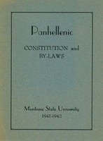 Panhellenic Constitution and Bylaws Montana State University<br />