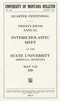 University of Montana Bulletin No. 293 Announcement of the 25th Annual Inter-Scholastic Meet, cover