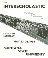 University of Montana Announcement of the 52nd Annual Inter-Scholastic Meet, cover